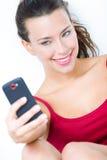 Милая женщина брюнет принимая фото себя Стоковое Изображение RF