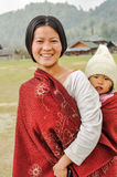 Милая женщина в Arunachal Pradesh Стоковое Изображение RF