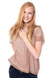 Милая женщина с симпатичной улыбкой Стоковое фото RF