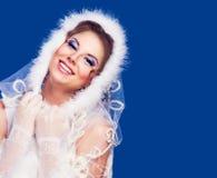 Милая женщина, тема зимы Стоковые Фотографии RF