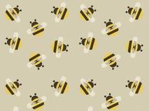 Милая желтая предпосылка пчелы вектора Стоковая Фотография
