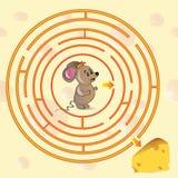 Милая игра лабиринта мыши Стоковые Изображения