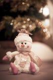 Милая игрушка снеговика - орнамент рождества Стоковые Изображения