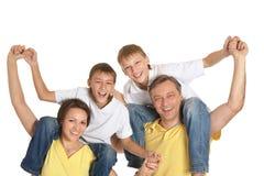 Милая изолированная семья Стоковые Фотографии RF