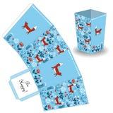 Милая и элегантная коробка попкорна в стиле леса doodle Стоковое Изображение RF