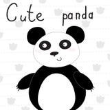 Милая иллюстрация вектора маленькой панды Стоковые Изображения