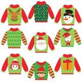 Милая иллюстрация вектора свитера рождества Стоковые Изображения RF