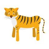 Милая иллюстрация вектора тигра шаржа Стоковая Фотография