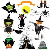 Милая иллюстрация вектора характеров хеллоуина Стоковые Изображения
