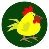 Милая иллюстрация вектора цыпленка шаржа Стоковые Фото