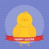 Милая иллюстрация вектора цыпленока пасхи Стоковое Фото