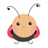 Милая иллюстрация вектора ladybug Стоковые Изображения RF