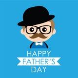 Милая иллюстрация Дня отца Стоковое Фото