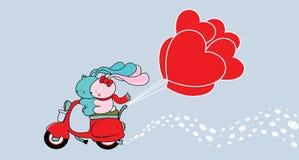 Милая иллюстрация карточки дня валентинки Стоковые Фотографии RF
