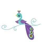 Милая иллюстрация павлина Стоковые Фотографии RF