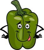 Милая иллюстрация шаржа зеленого перца Стоковые Фото