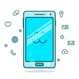 Милая иллюстрация smartphone Стоковое Изображение