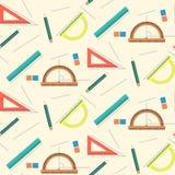 Милая картина математики школы с правителями, карандашами, линиями и ластиками бесплатная иллюстрация