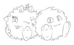 Милая книжка-раскраска изверга шаржа 2 Стоковая Фотография
