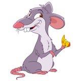 Милая крыса шаржа Стоковая Фотография