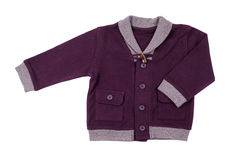 Милая куртка младенца, изолированная на белизне Стоковые Изображения