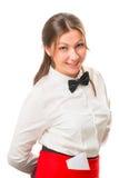 Милая маленькая девочка в официантке одежд Стоковая Фотография