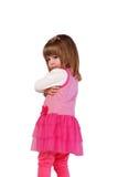 Милая маленькая девочка в розовом платье Стоковое Изображение RF