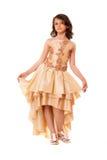 Милая маленькая девочка в шикарном платье стоковые изображения rf