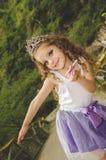 Милая маленькая девочка нося fairy костюм Стоковая Фотография RF
