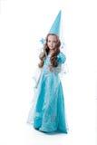 Милая маленькая девочка представляя в fairy костюме Стоковые Изображения RF