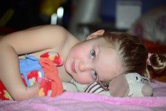 Милая маленькая девочка Стоковые Изображения
