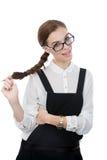 Милая молодая женщина с стеклами Стоковые Изображения