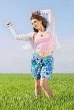 Милая молодая женщина стоковая фотография