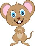 Милая мышь вектора шаржа Стоковое Фото