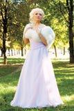 Милая невеста напольная Стоковое Изображение RF