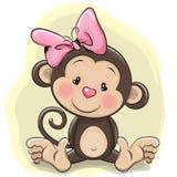 Милая обезьяна шаржа иллюстрация штока