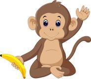 милая обезьяна иллюстрация штока