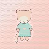 Милая одежда кота Стоковое фото RF