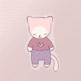 Милая одежда кота Стоковая Фотография RF