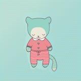 Милая одежда кота Стоковые Изображения RF