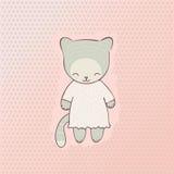 Милая одежда кота Стоковые Фото