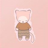 Милая одежда кота Стоковые Изображения