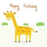 Милая печать жирафа для детей Стоковое Фото