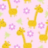 Милая печать картины жирафа для детей Стоковое Изображение RF