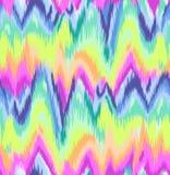 Милая печать шеврона Ikat радуги Стоковая Фотография