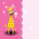 Милая поздравительная открытка жирафа. Стоковые Изображения