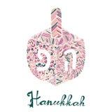 Милая поздравительная открытка Хануки, приглашение