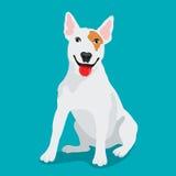 Милая порода бультерьера собаки иллюстрация штока