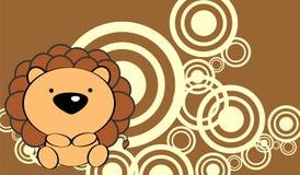 Милая предпосылка льва младенца Стоковые Фото