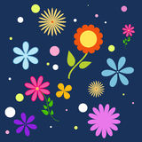 Милая простая безшовная картина цветков иллюстрация вектора